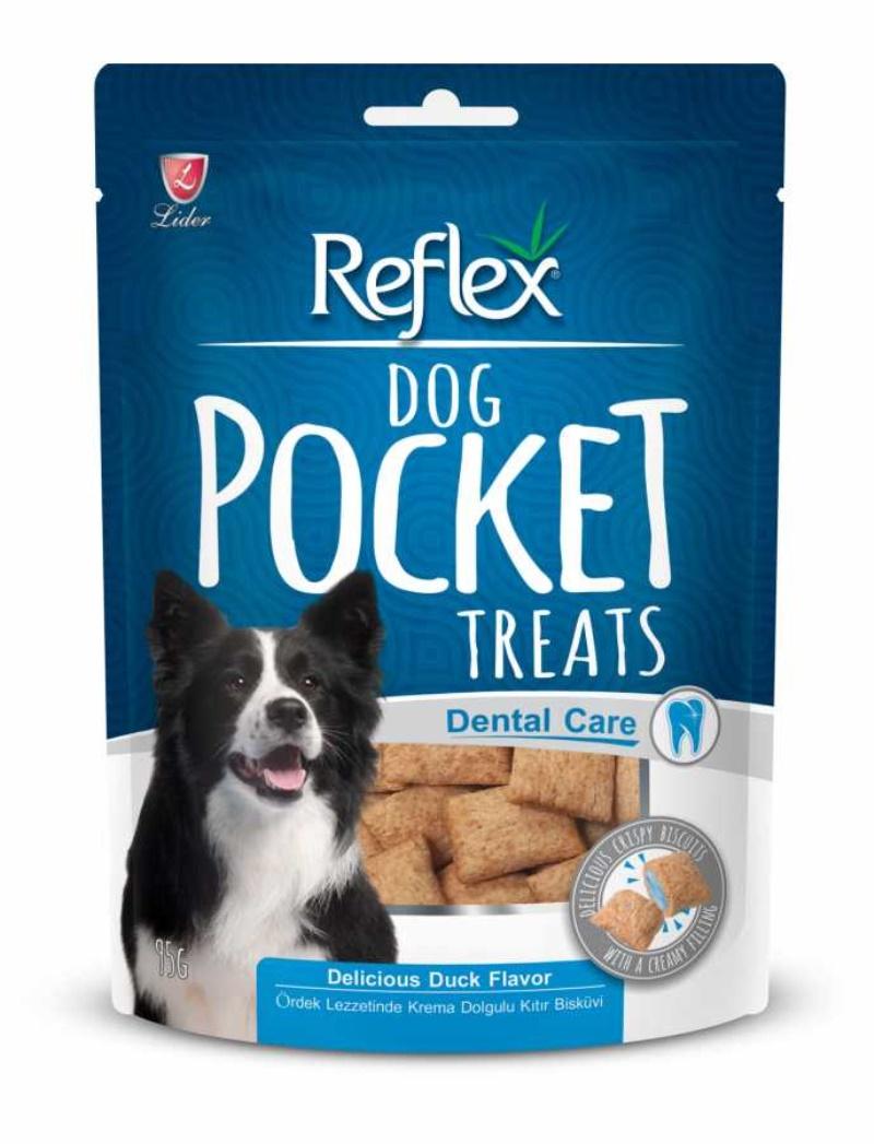 Reflex Köpek Diş Sağlığı için Pocket Ördekli Ödül 95 fr.  5 adet